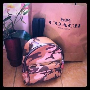 New medium authentic coach backpack